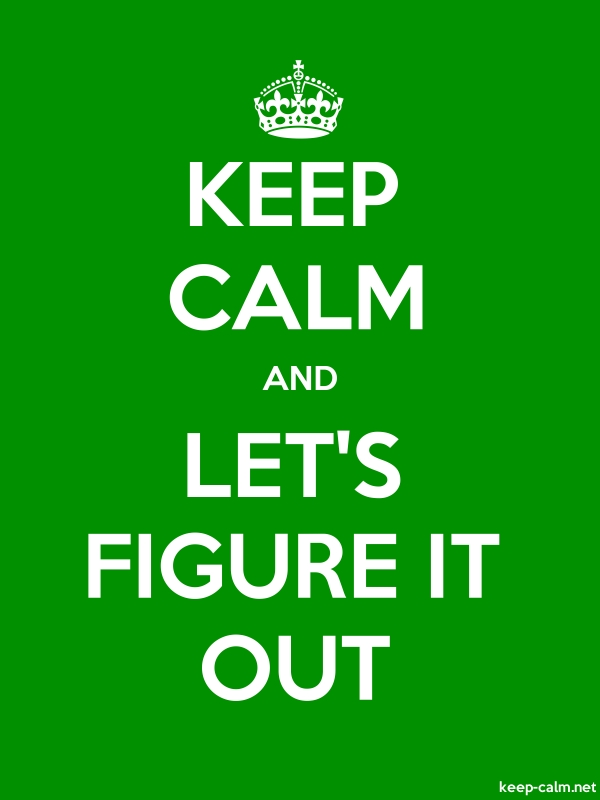KEEP CALM AND LET'S FIGURE IT OUT - white/green - Default (600x800)
