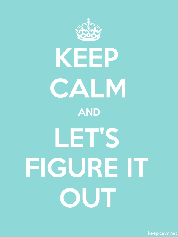 KEEP CALM AND LET'S FIGURE IT OUT - white/lightblue - Default (600x800)
