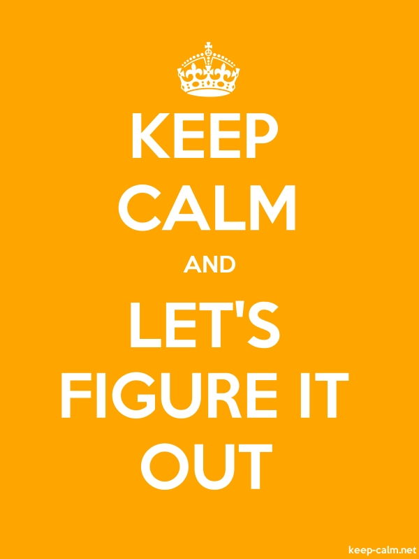 KEEP CALM AND LET'S FIGURE IT OUT - white/orange - Default (600x800)
