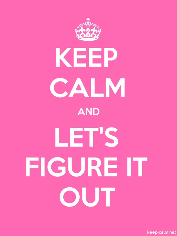 KEEP CALM AND LET'S FIGURE IT OUT - white/pink - Default (600x800)