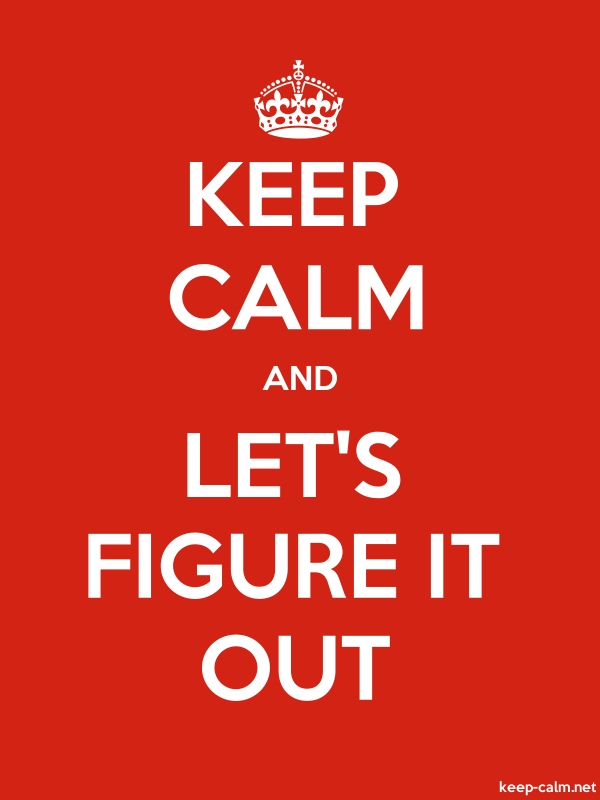 KEEP CALM AND LET'S FIGURE IT OUT - white/red - Default (600x800)