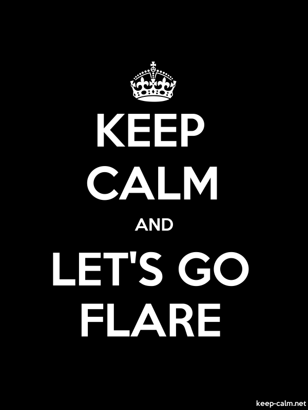 KEEP CALM AND LET'S GO FLARE - white/black - Default (600x800)