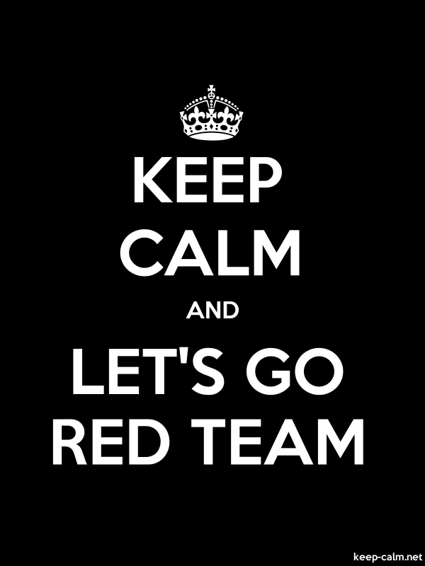 KEEP CALM AND LET'S GO RED TEAM - white/black - Default (600x800)