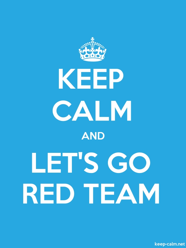 KEEP CALM AND LET'S GO RED TEAM - white/blue - Default (600x800)