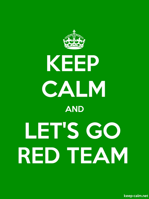 KEEP CALM AND LET'S GO RED TEAM - white/green - Default (600x800)