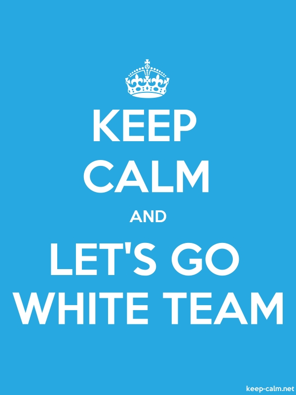 KEEP CALM AND LET'S GO WHITE TEAM - white/blue - Default (600x800)