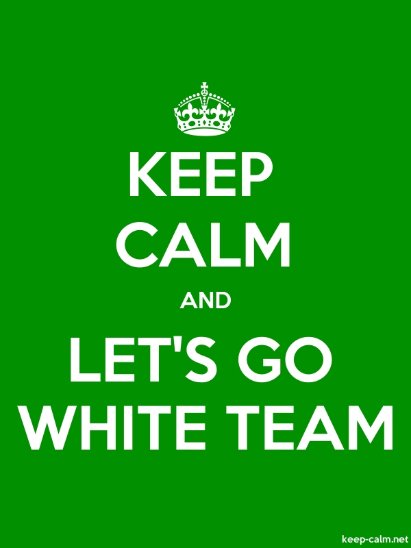 KEEP CALM AND LET'S GO WHITE TEAM - white/green - Default (600x800)