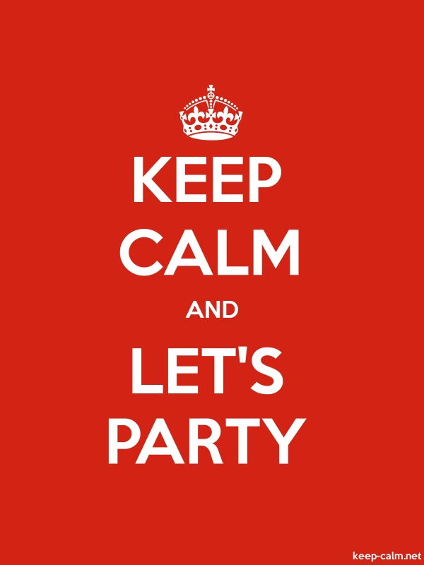 KEEP CALM AND LET'S PARTY - white/red - Default (600x800)