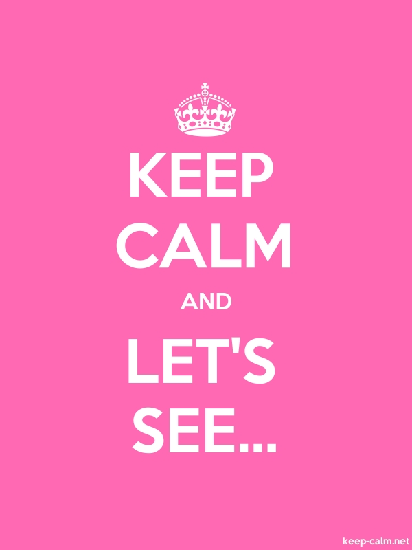 KEEP CALM AND LET'S SEE... - white/pink - Default (600x800)