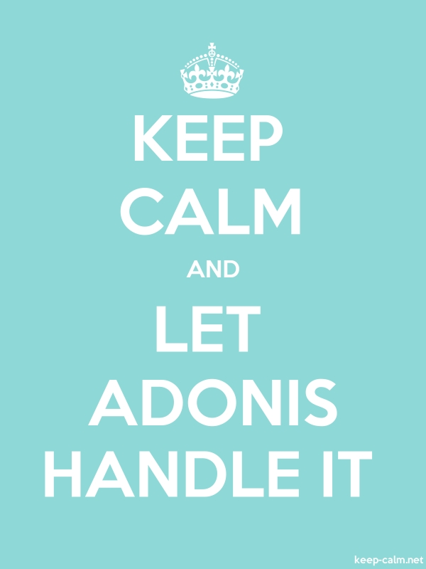 KEEP CALM AND LET ADONIS HANDLE IT - white/lightblue - Default (600x800)