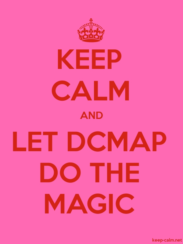 KEEP CALM AND LET DCMAP DO THE MAGIC - red/pink - Default (600x800)