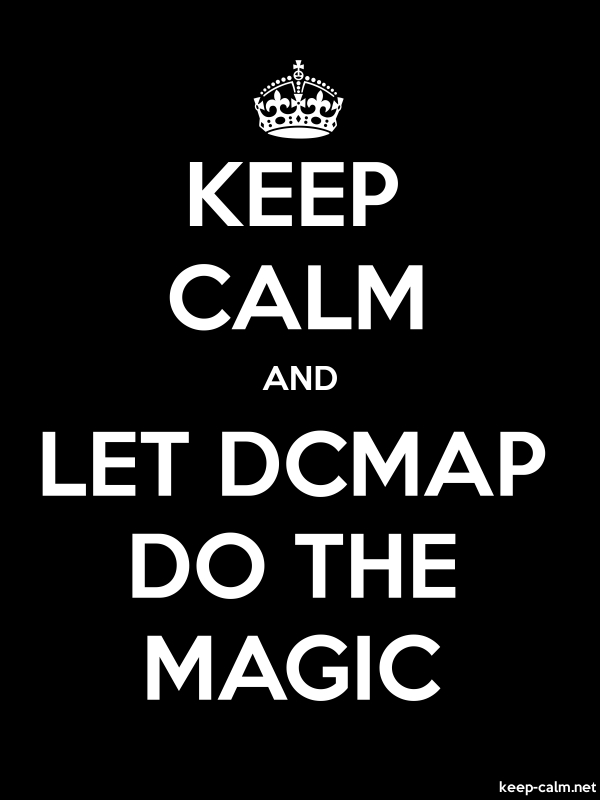 KEEP CALM AND LET DCMAP DO THE MAGIC - white/black - Default (600x800)