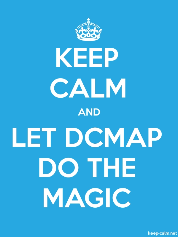 KEEP CALM AND LET DCMAP DO THE MAGIC - white/blue - Default (600x800)