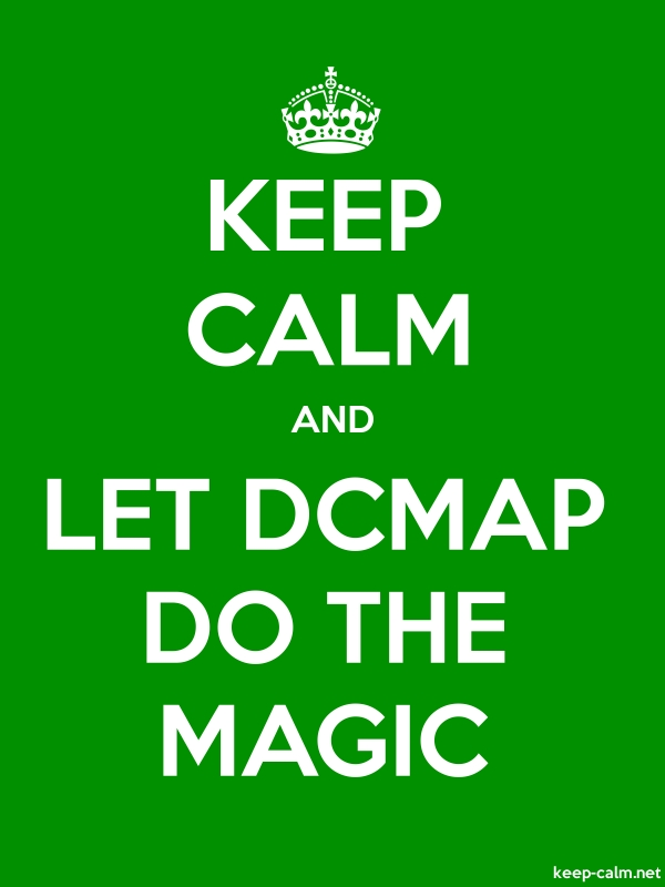 KEEP CALM AND LET DCMAP DO THE MAGIC - white/green - Default (600x800)