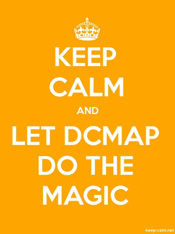 KEEP CALM AND LET DCMAP DO THE MAGIC - white/orange - Default (600x800)