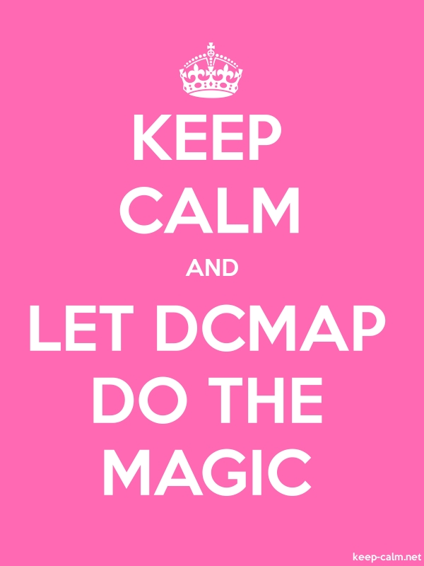 KEEP CALM AND LET DCMAP DO THE MAGIC - white/pink - Default (600x800)