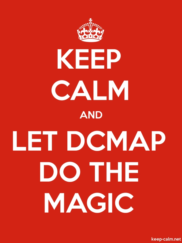 KEEP CALM AND LET DCMAP DO THE MAGIC - white/red - Default (600x800)