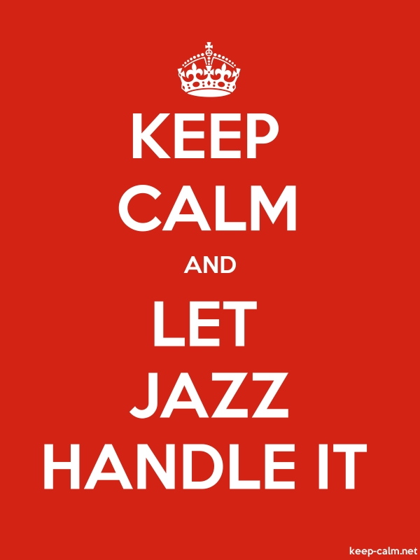 KEEP CALM AND LET JAZZ HANDLE IT - white/red - Default (600x800)