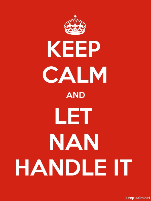 KEEP CALM AND LET NAN HANDLE IT - white/red - Default (600x800)