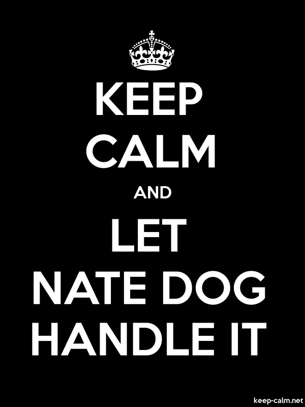 KEEP CALM AND LET NATE DOG HANDLE IT - white/black - Default (600x800)