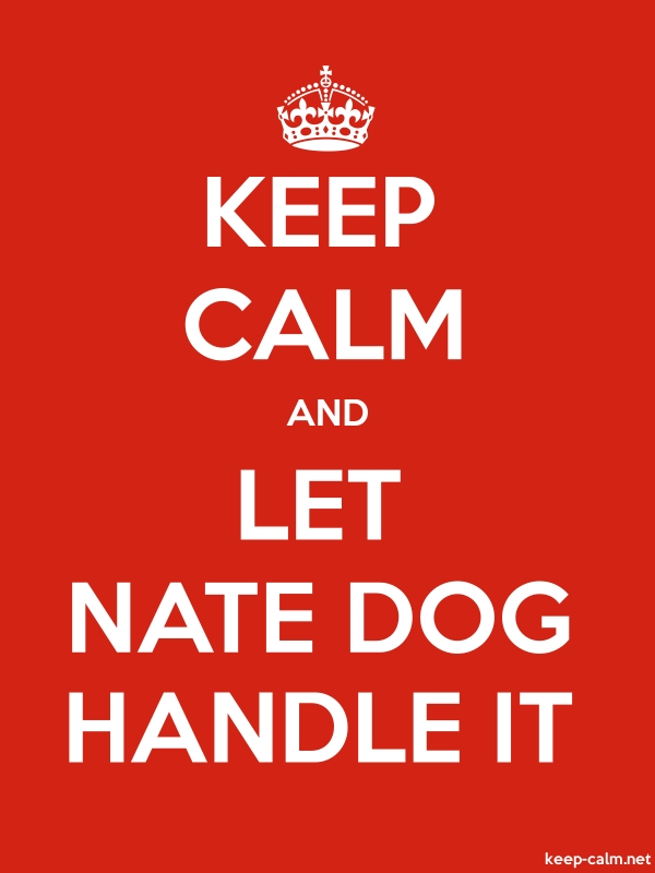 KEEP CALM AND LET NATE DOG HANDLE IT - white/red - Default (600x800)