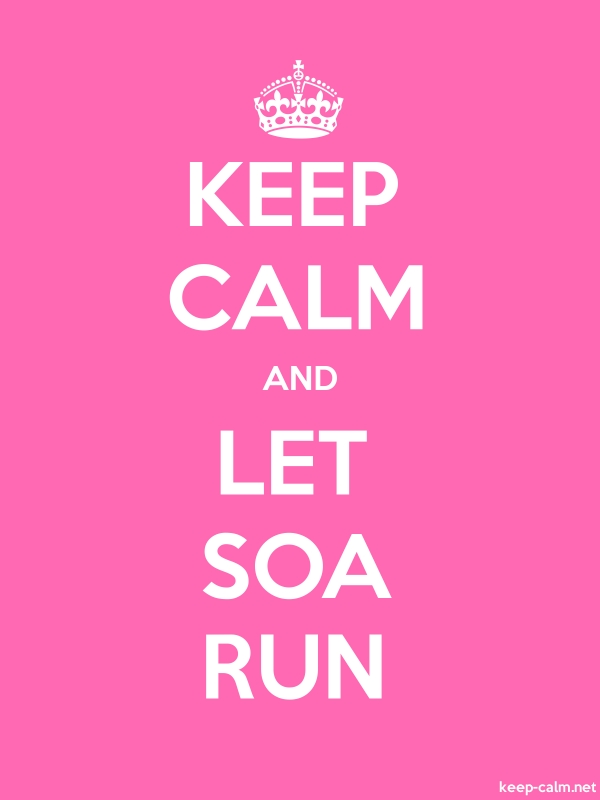 KEEP CALM AND LET SOA RUN - white/pink - Default (600x800)
