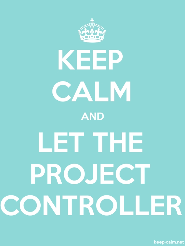 KEEP CALM AND LET THE PROJECT CONTROLLER - white/lightblue - Default (600x800)