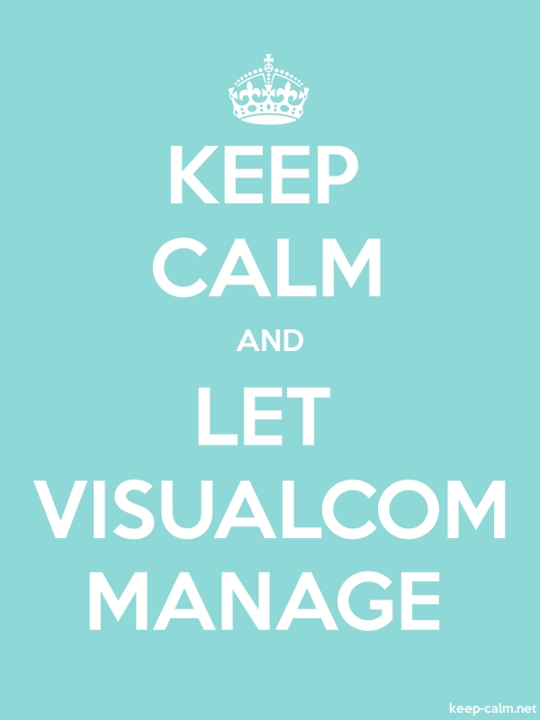 KEEP CALM AND LET VISUALCOM MANAGE - white/lightblue - Default (600x800)