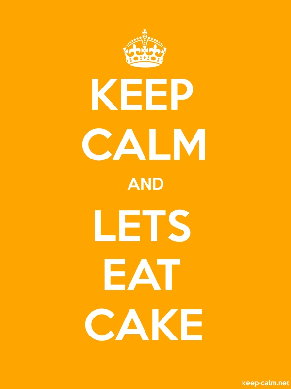 KEEP CALM AND LETS EAT CAKE - white/orange - Default (600x800)