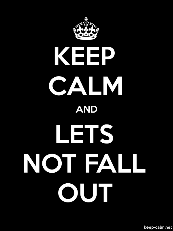 KEEP CALM AND LETS NOT FALL OUT - white/black - Default (600x800)