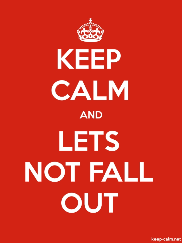 KEEP CALM AND LETS NOT FALL OUT - white/red - Default (600x800)