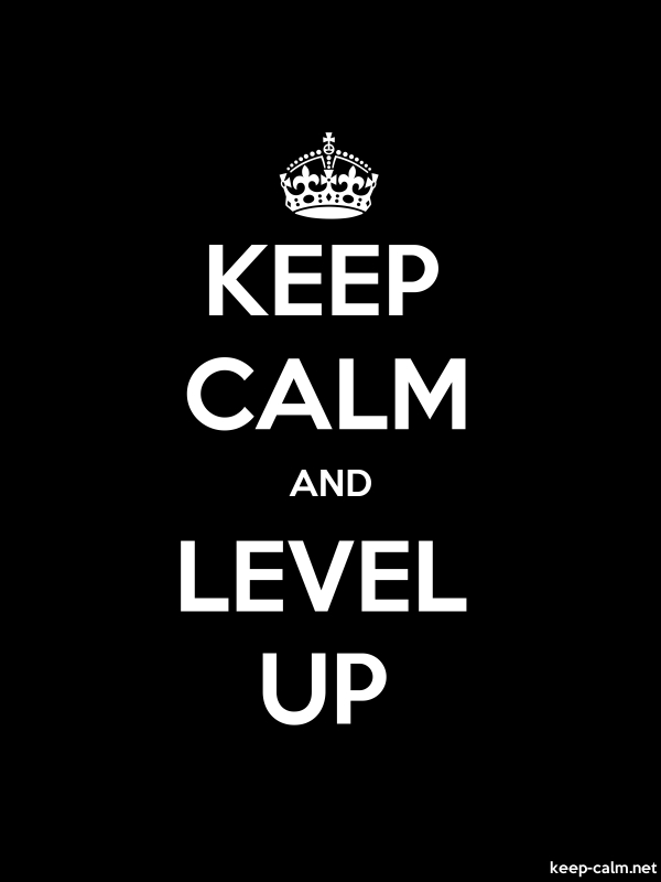 KEEP CALM AND LEVEL UP - white/black - Default (600x800)