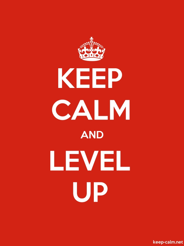 KEEP CALM AND LEVEL UP - white/red - Default (600x800)