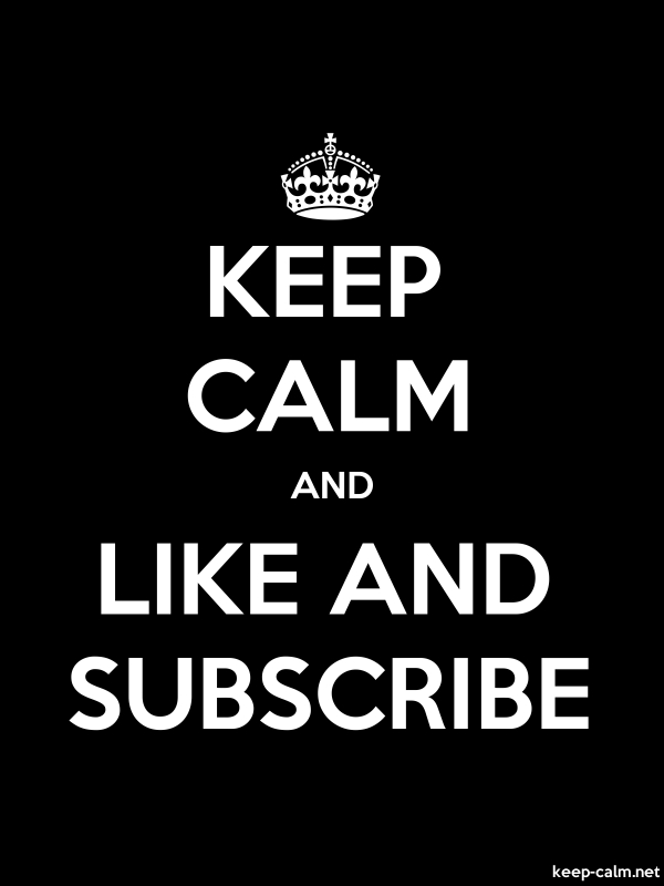KEEP CALM AND LIKE AND SUBSCRIBE - white/black - Default (600x800)