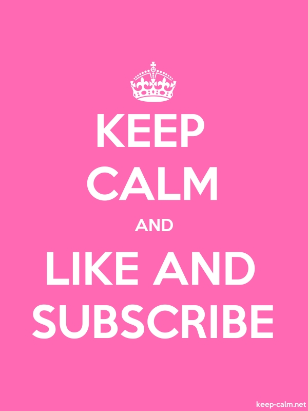 KEEP CALM AND LIKE AND SUBSCRIBE - white/pink - Default (600x800)