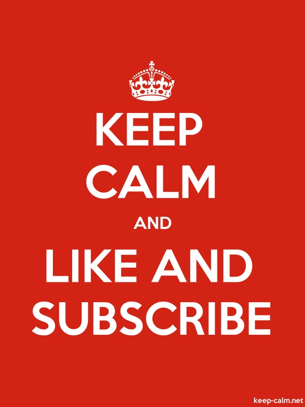KEEP CALM AND LIKE AND SUBSCRIBE - white/red - Default (600x800)
