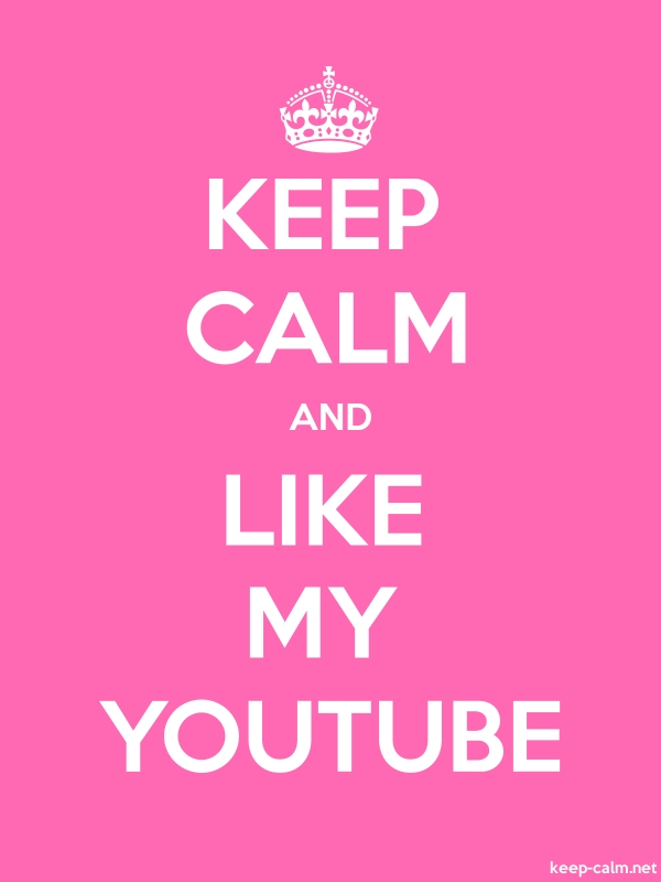 KEEP CALM AND LIKE MY YOUTUBE - white/pink - Default (600x800)