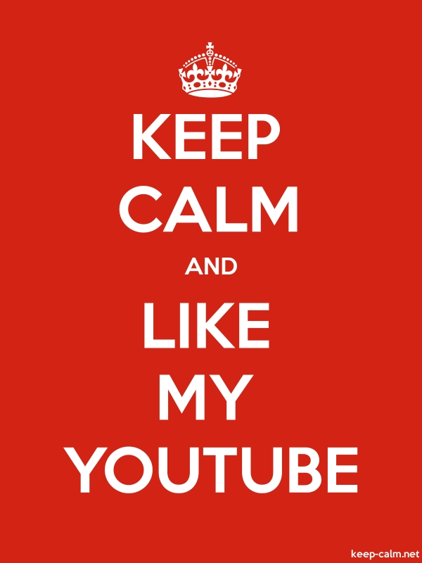 KEEP CALM AND LIKE MY YOUTUBE - white/red - Default (600x800)