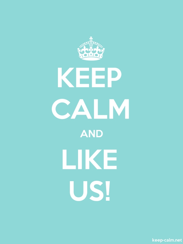 KEEP CALM AND LIKE US! - white/lightblue - Default (600x800)