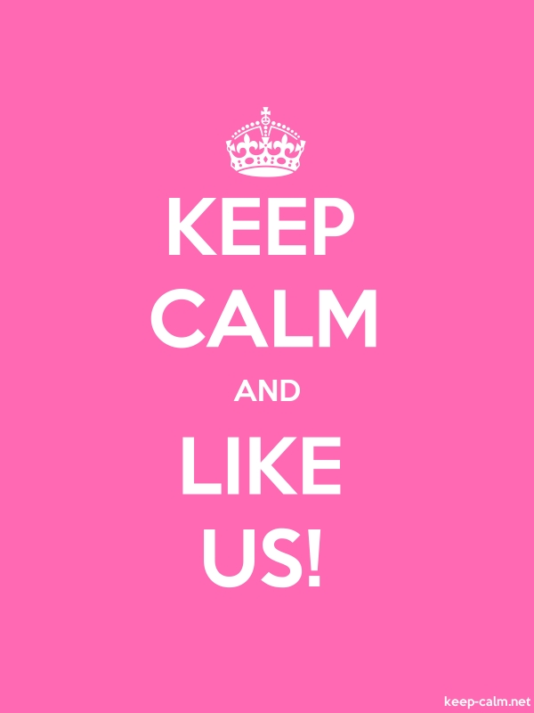 KEEP CALM AND LIKE US! - white/pink - Default (600x800)