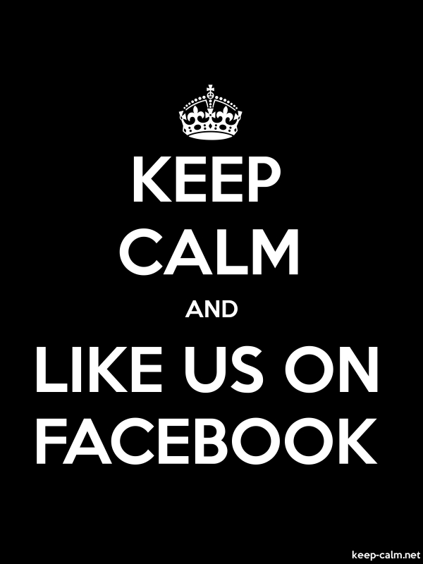 KEEP CALM AND LIKE US ON FACEBOOK - white/black - Default (600x800)