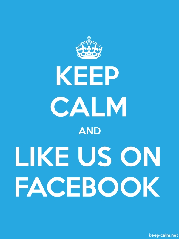 KEEP CALM AND LIKE US ON FACEBOOK - white/blue - Default (600x800)