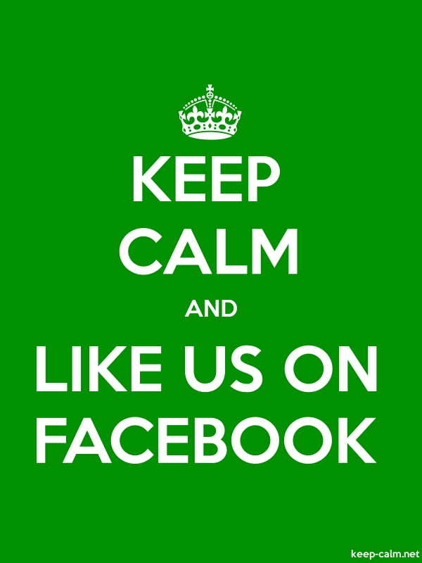 KEEP CALM AND LIKE US ON FACEBOOK - white/green - Default (600x800)