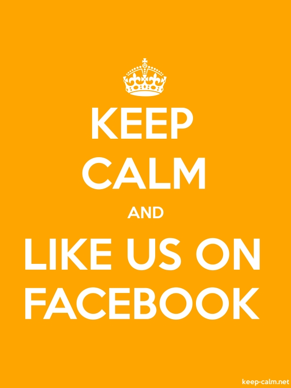 KEEP CALM AND LIKE US ON FACEBOOK - white/orange - Default (600x800)