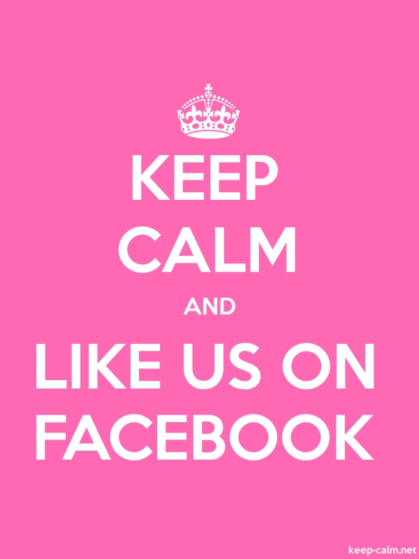 KEEP CALM AND LIKE US ON FACEBOOK - white/pink - Default (600x800)