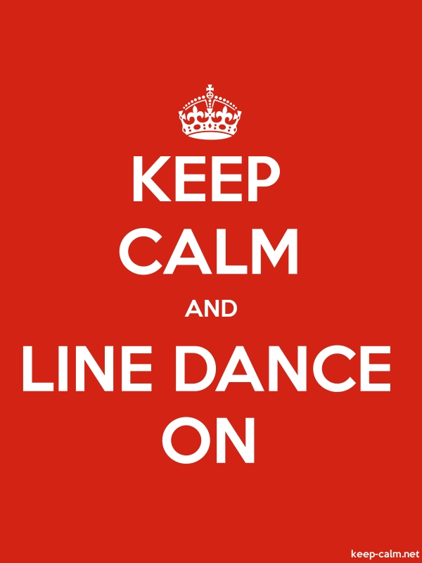 KEEP CALM AND LINE DANCE ON - white/red - Default (600x800)