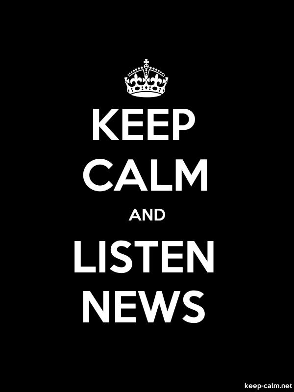 KEEP CALM AND LISTEN NEWS - white/black - Default (600x800)