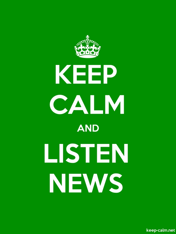 KEEP CALM AND LISTEN NEWS - white/green - Default (600x800)