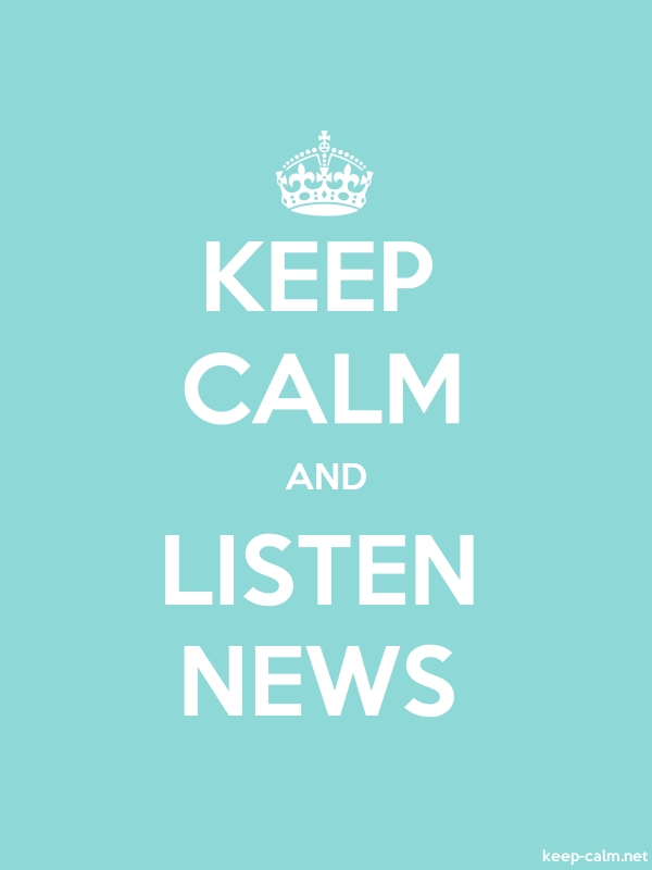 KEEP CALM AND LISTEN NEWS - white/lightblue - Default (600x800)