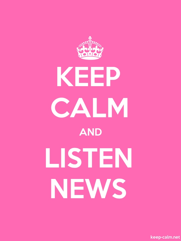 KEEP CALM AND LISTEN NEWS - white/pink - Default (600x800)